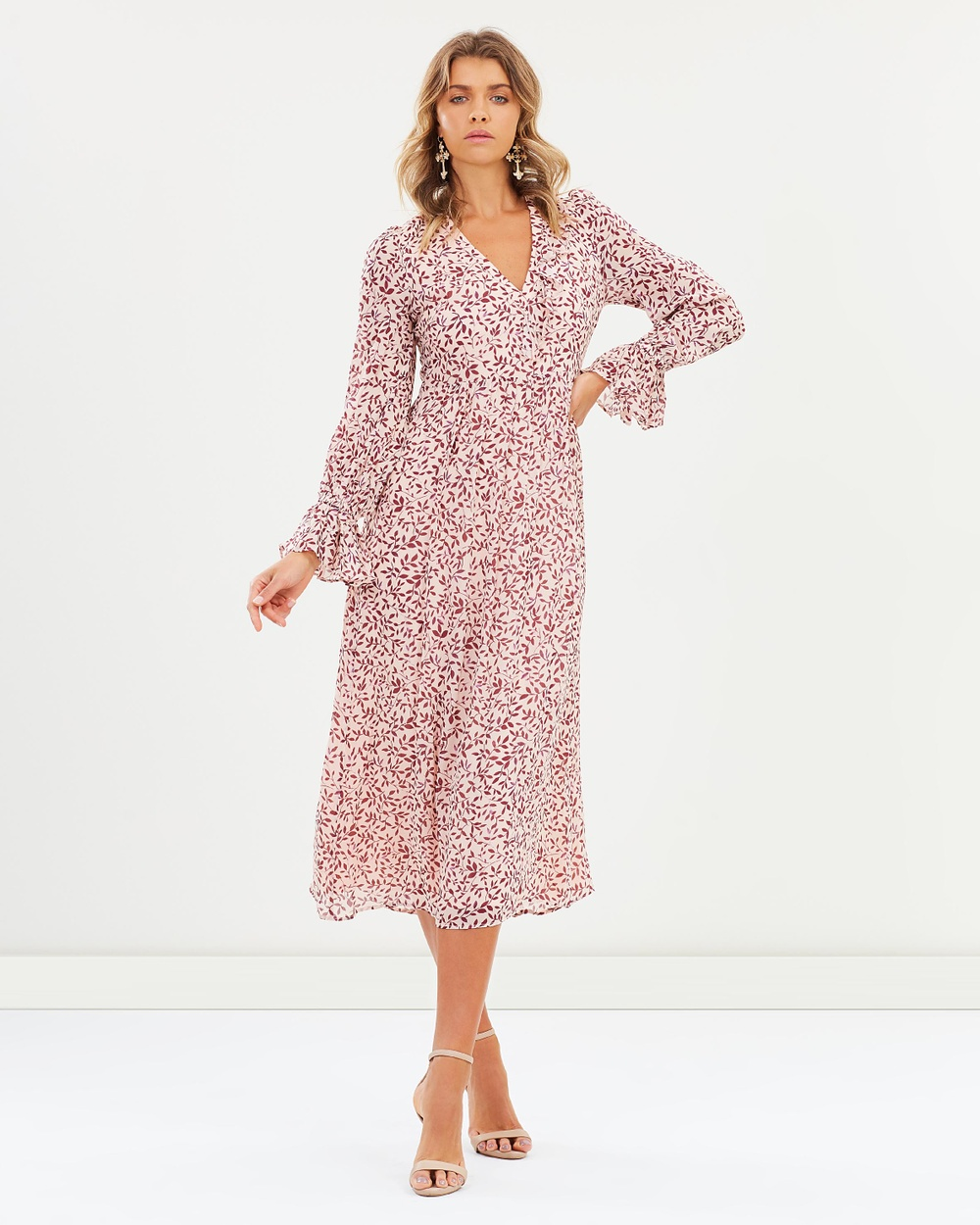 Steele Dasha Midi Dress Printed Dresses Rose Willow Dasha Midi Dress