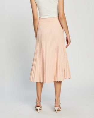 Atmos&Here Lola Knit Pleated Skirt skirts Pink
