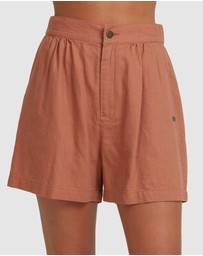 Roxy - Womens Florence Feels Poplin Short