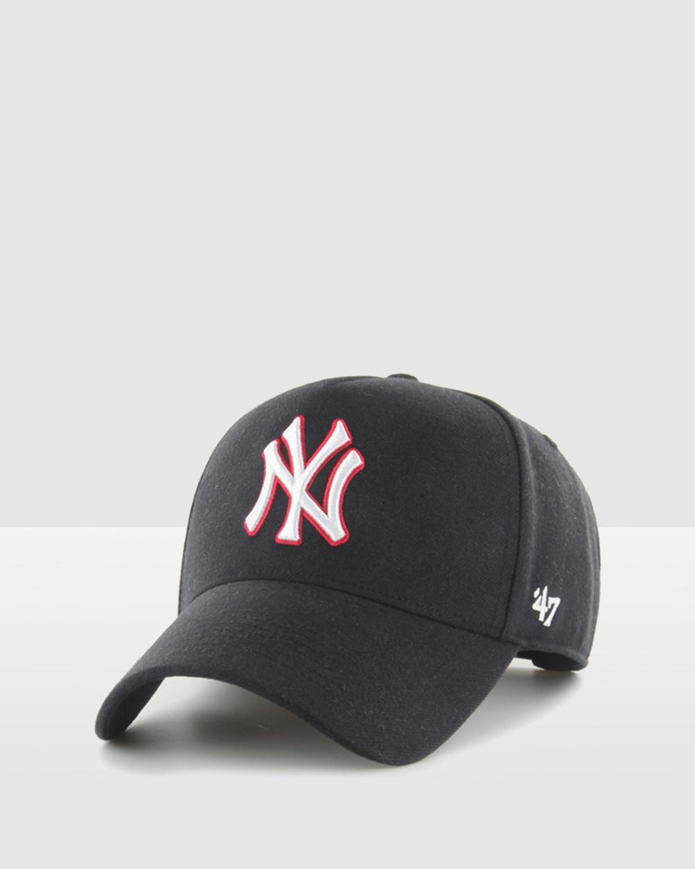 47 New York Yankees Black Replica '47 MVP DT Snapback Headwear black