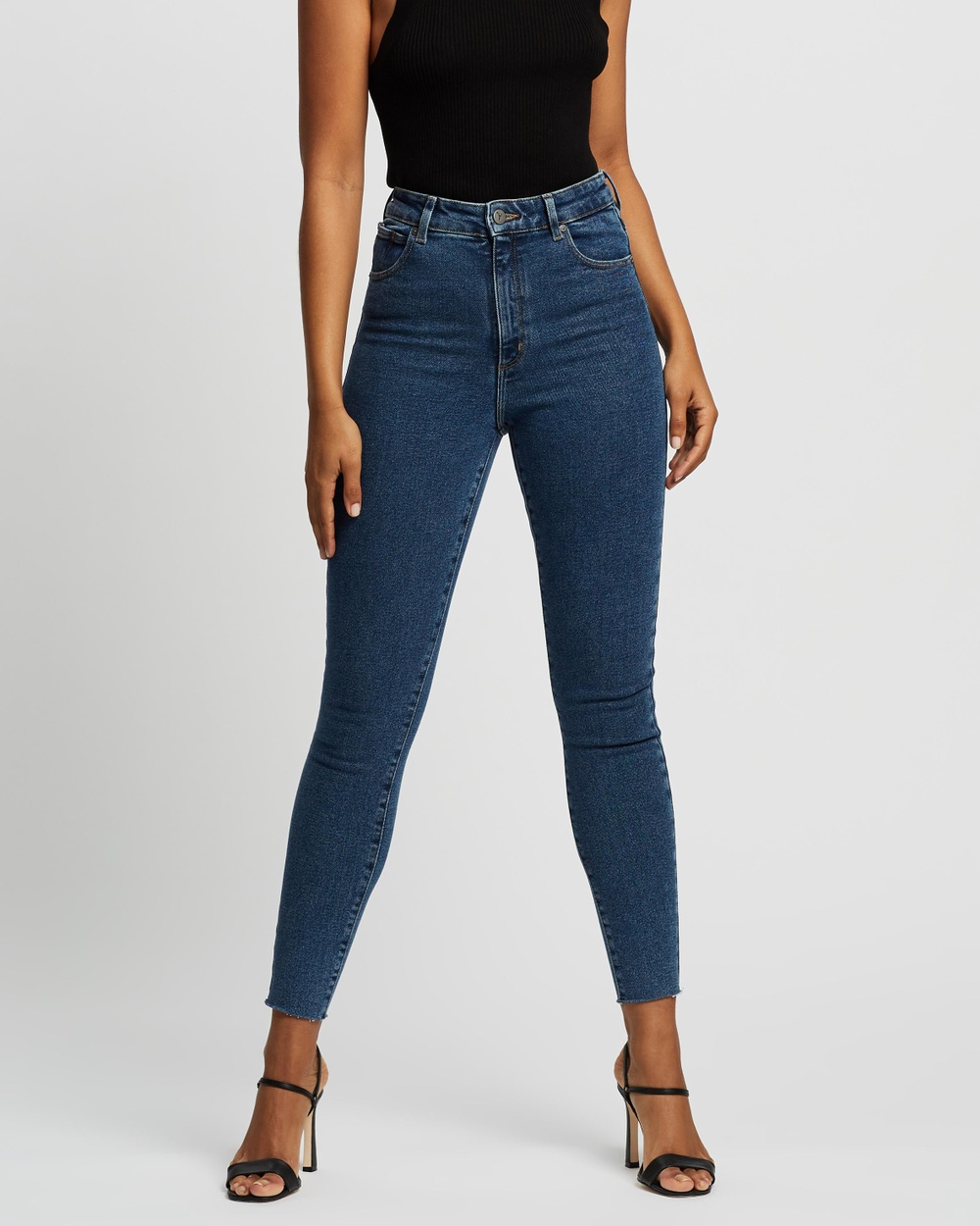 Abrand A High Skinny Ankle Basher Jeans High-Waisted Electra