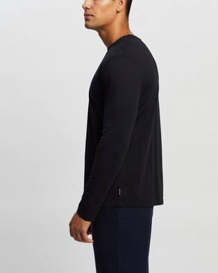 Bonds Long Sleeve Mid Weight Classic Crew - Long Sleeve T-Shirts (Nu Black)