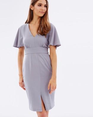 Closet London – Closet Big Frill Sleeve V Neck Dress