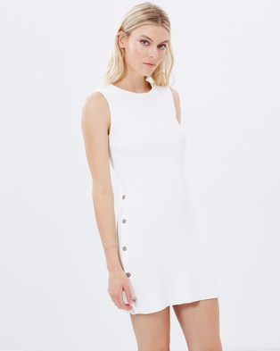 C/MEO COLLECTIVE – Life is Real Knit Dress White