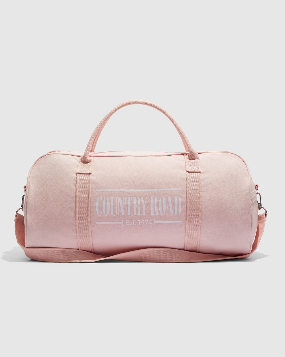 Country Road Heritage Zip Canvas Tote Bags pink
