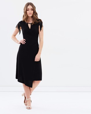 Privilege – Windsor Asymmetric Hem Dress