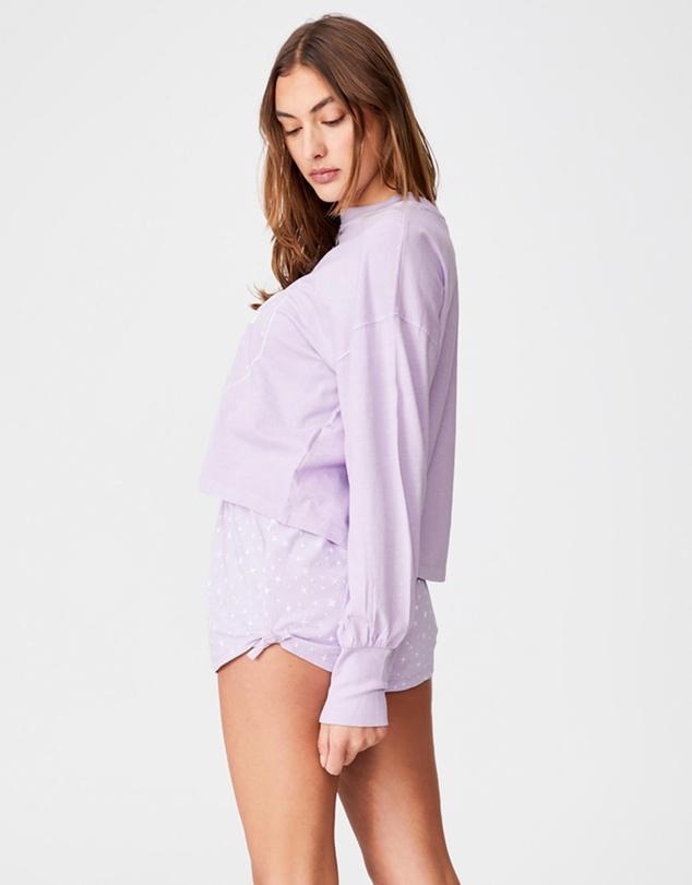 Women Jersey Placket Bed Shorts