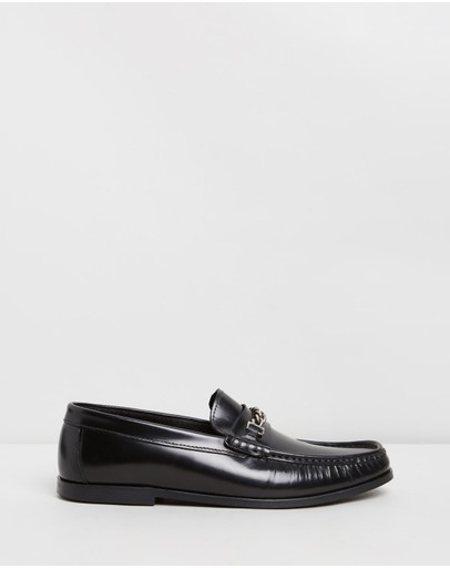Office Miles Chain Loafers Black Leather