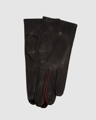 Kate & Confusion Wanderer Ladies Leather Gloves - Outdoor Gloves (Black)