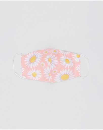 H-wood Non-medical Fashion Face Mask Pink Daisy