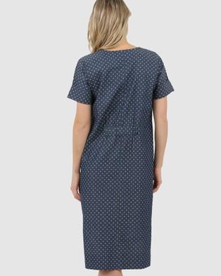 Lincoln St High Low Dress - Dresses (Washed Denim)