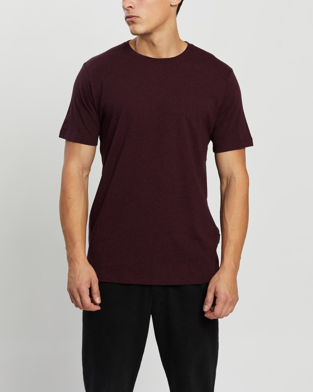 Mr Simple - Reginald Tee - T-Shirts & Singlets (Burgundy Marle) Reginald Tee