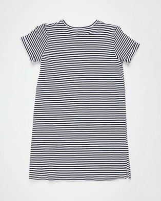 Free by Cotton On - Toni T Shirt Dress   Teens - Dresses (Indian Ink & White Stripe) Toni T-Shirt Dress - Teens