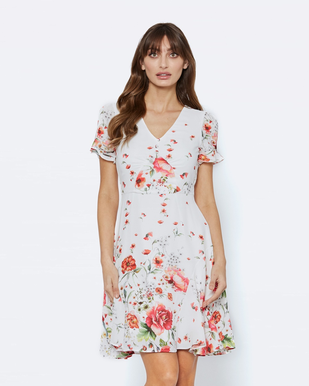Alannah Hill Down In The Meadow Dress Printed Dresses White Down In The Meadow Dress