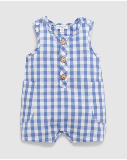 Purebaby - Gingham All-In-One - Babies