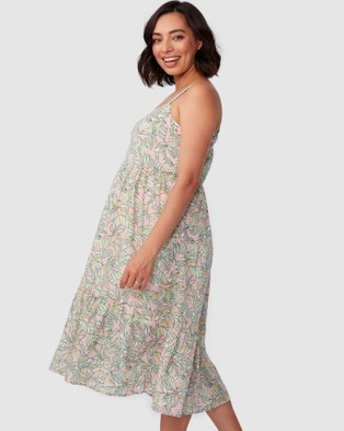 Pea in a Pod Maternity Naya Midi Dress - Printed Dresses (Print)