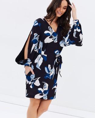 Cooper St – Parea Slashed Dress Print Black