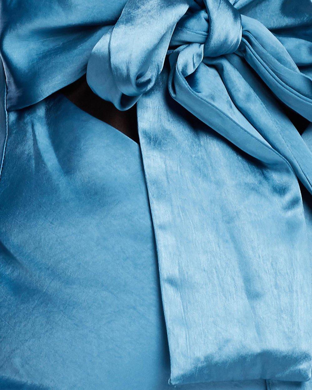 Tie Back Bias Maxi Dress