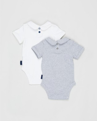 Pappe 2 Pack Bowhill SS Bodysuit   Babies - Gifts sets (Grey Marle)