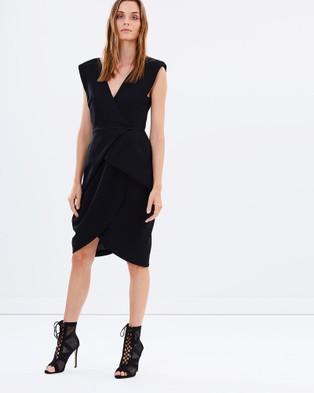 Bianca Spender – Crepe Cocoon Dress Black