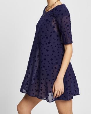 LENNI the label Anja Dress - Dresses (Navy Star Mesh)