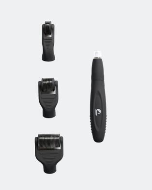 Press Beauty The Activator Tool Kit   Microneedle Dermal Roller Set - Derma Rollers (Black)