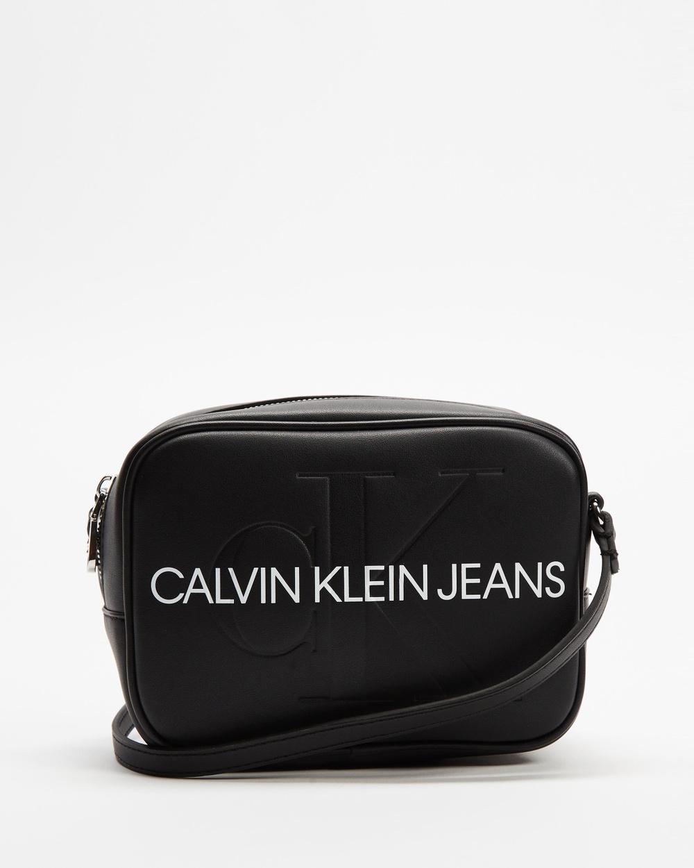 Calvin Klein Jeans Branded Cross Body Camera Bag Bags Black Cross-Body