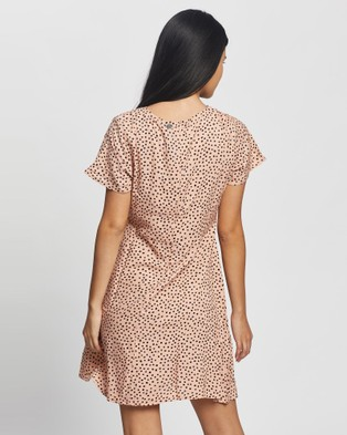 All About Eve Painted Dot Fit & Flare Dress - Printed Dresses (Multicoloured)