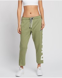 DKNY - Cut Off Logo Cropped Slim Fit Joggers