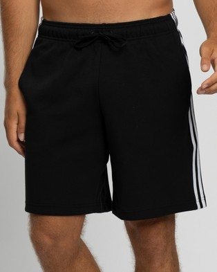 adidas Performance Must Haves 3 Stripes Shorts Black & White 3-Stripes