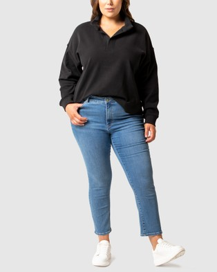 Forever New Curve Olympia Curve Loungewear Jumper - Jumpers (Black)