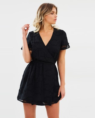 Atmos & Here – Desire Textured Wrap Dress