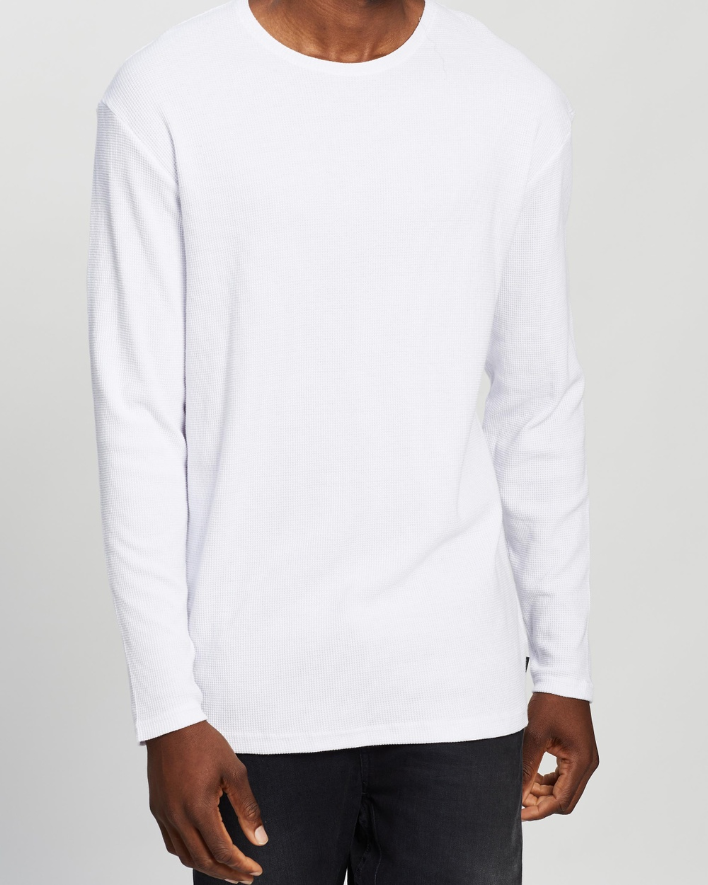 Silent Theory - Acid Waffle LS Tee - T-Shirts & Singlets (White) Acid Waffle LS Tee