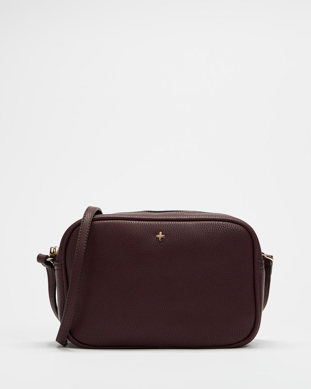 PETA AND JAIN Gracie Crossbody Bag Handbags Merlot Pebble