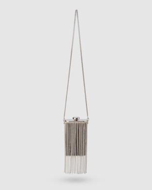 Olga Berg Luiza Crystal Fringe Bag - Handbags (Black)