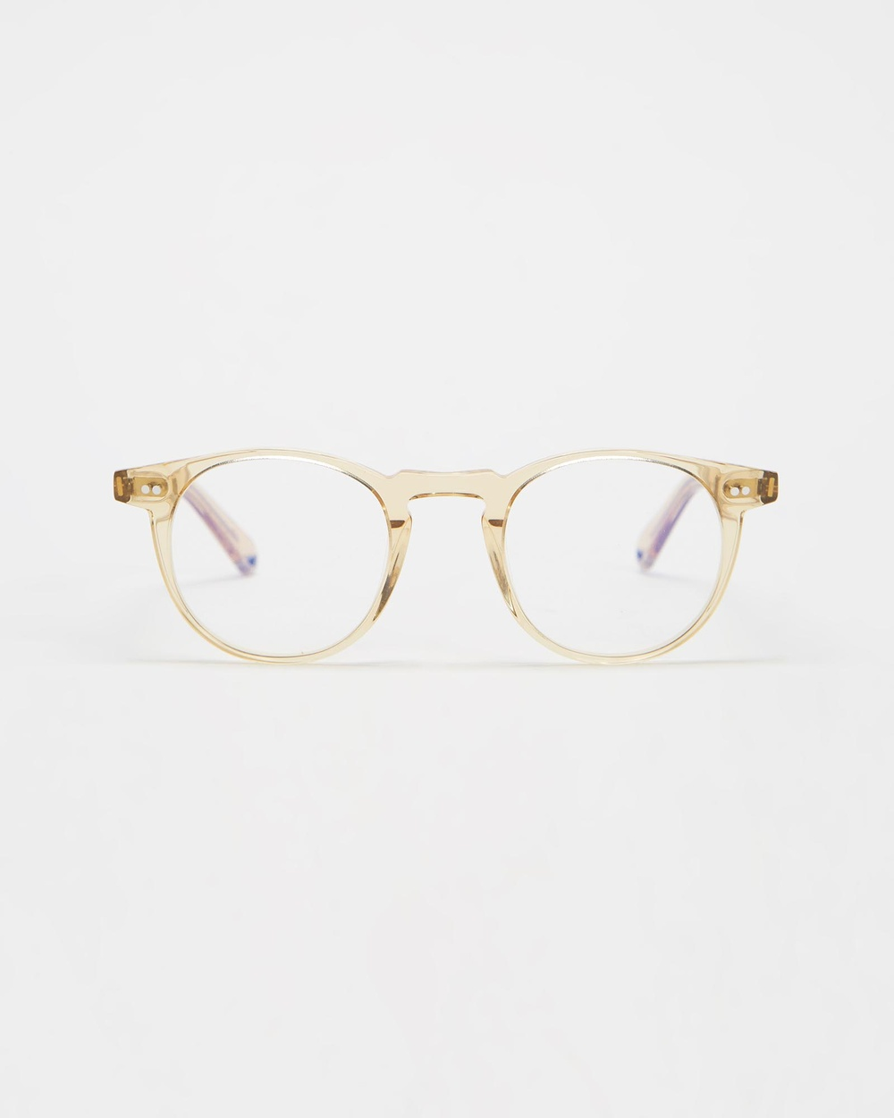 Pacifico Optical Buckler Champagne with Blue Light Lenses