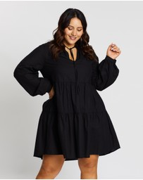 Atmos&Here Curvy - Gemma V-Neck Mini Dress