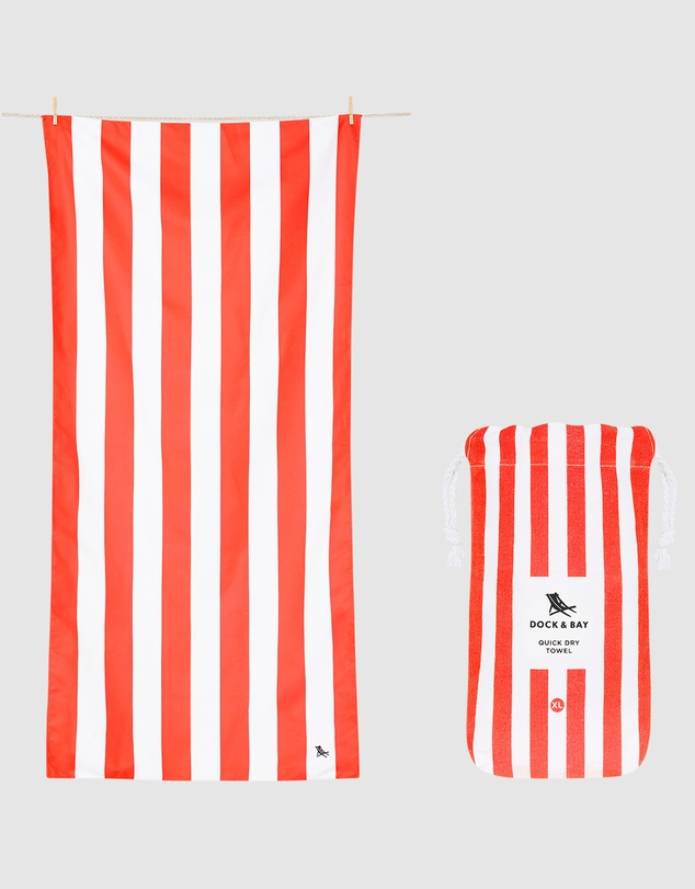 Dock & Bay - Extra Large Beach Towel 100% Recycled Cabana Collection