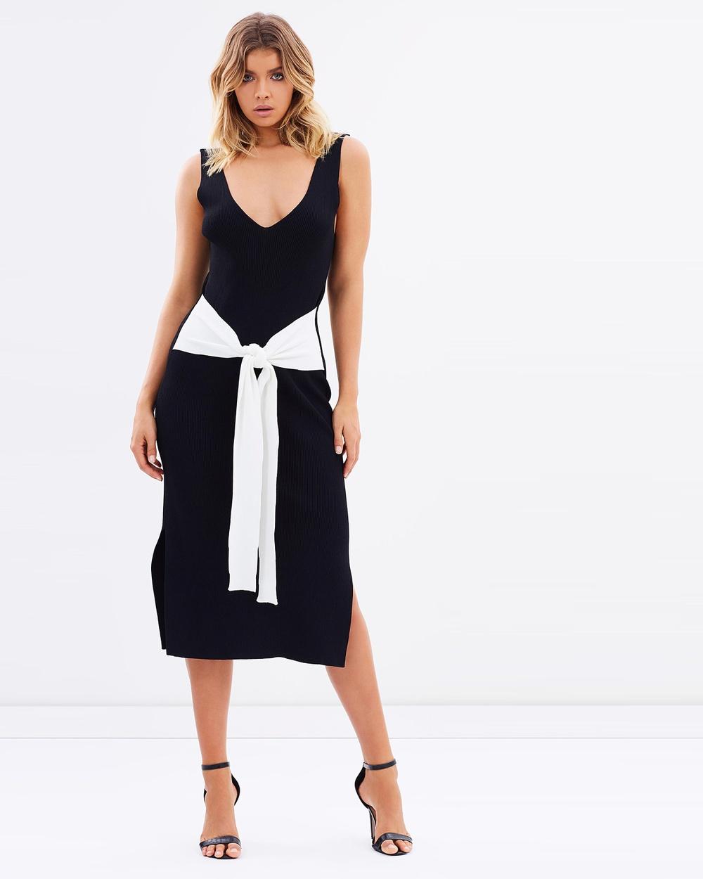 MLM Label Acel Rib Dress Dresses Black & Ivory Acel Rib Dress
