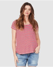 Soon Maternity - Perfect Linen Feeding T-Shirt