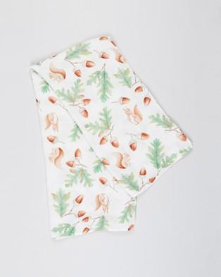 Bubba Bump Woodland Bamboo Muslin Wrap Wraps & Blankets Print