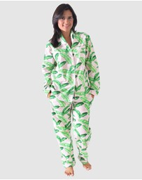 Sant And Abel - Tropical Punch Long Sleeve PJ Pant Set