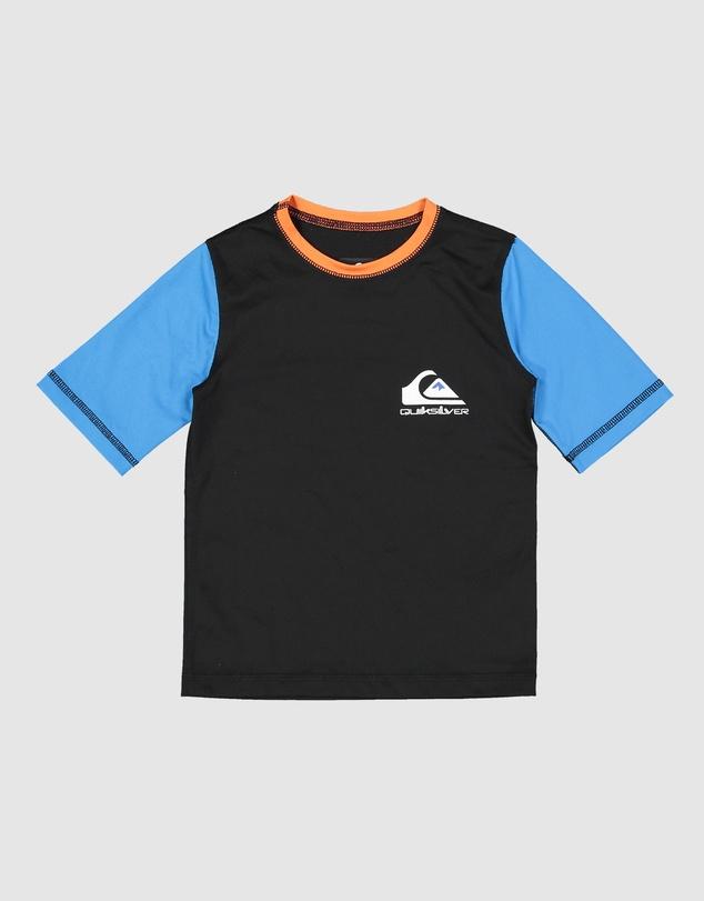 Kids Boys 2-7 Heats Omni Short Sleeve UPF 50 Rash Vest