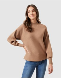 French Connection - High Neck Rib Knit