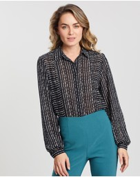 Forcast - Emmalyn Button-Up Blouse