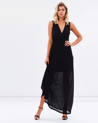 Atmos & Here – Taylor Maxi Ribbed Dress – Dresses (Black)