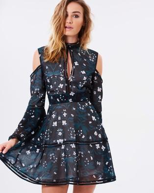 Keepsake the Label – Night Dance LS Mini Dress Dark Floral Print