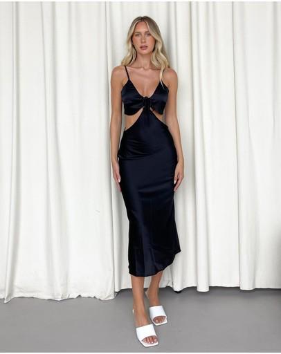 Dazie To Be Honest Cut-out Slip Dress Black