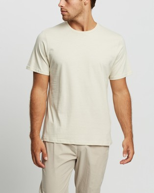 Cotton On - Essential Crew Tee 3 Pack - T-Shirts & Singlets (Gravel Stone, Bone & Charcoal Marle) Essential Crew Tee 3-Pack