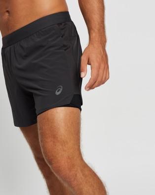 ASICS Road 2 N 1 5In Short Men's Shorts Graphite Grey 2-N-1